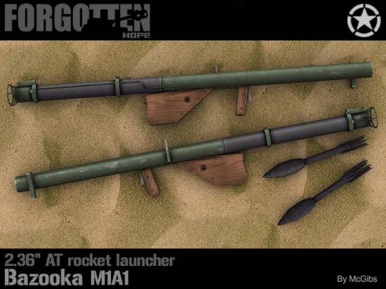 "2.36"" AT rocket launcher Bazooka M1A1"