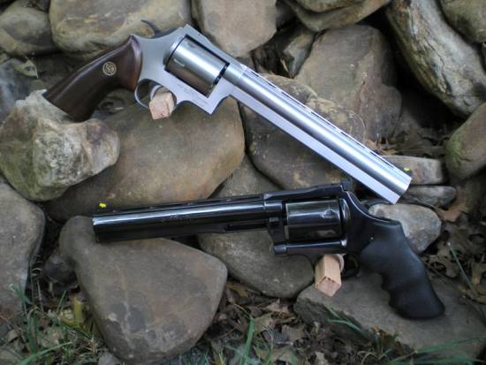 Blued and Stainless Dan Wesson 445 Super Mag