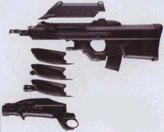 FN F2000 с различными модулями цевья