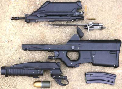 FN F2000 неполная разборка