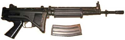 FN FNC приклад сложен, магазин извлечен