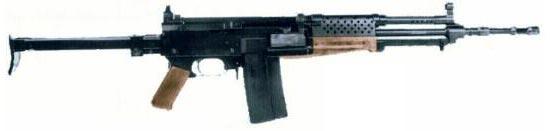 Madsen LAR M/62 под патрон 7.62х51 НАТО со складным прикладом вниз-вперед