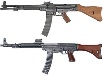 Mkb. 42 (Н) - сверху Mkb. 42 (W) - снизу