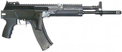 АК-12 со сложенным прикладом