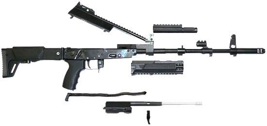 АК-12 при неполной разборке