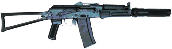 АК9 с прикладом по типу АКС-74 и целиком смещенным на крышку ствольной коробки
