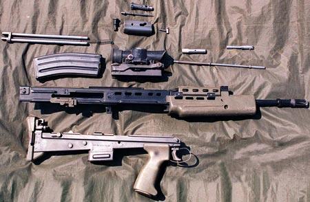 неполная разборка винтовки SA-80