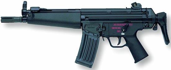 HK 53A3 приклад сложен