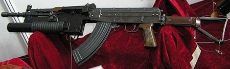 Type 81-1 с установленным подствольным гранатометом