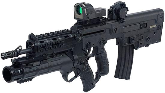 X95-L с установленным подствольным гранатометом IWI GL 40
