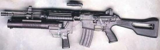 SR-88A с установленным 40-мм подствольным гранатометом CIS-40GL