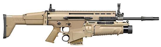 FN SCAR-H STD (Standard) с установленным подствольным гранатометом