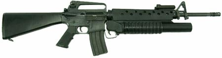 M16A2 с установленным 40-мм подствольным гранатометом