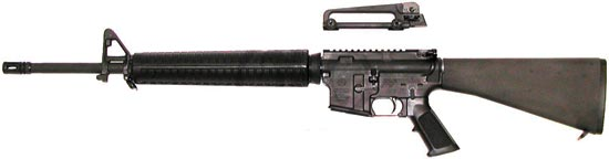 M16A3 ручка для переноски снята, магазин отсоединен