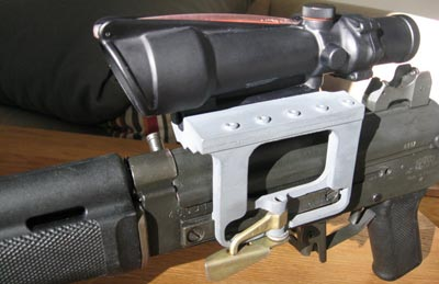 Sako Rk 95 TP вид на скобу и кронштейн с оптическим прицелом