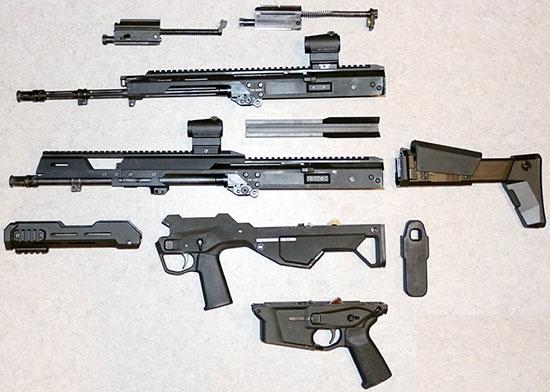 Основные компоненты MSBS-5.56K и MSBS-5.56B