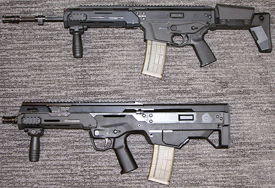 MSBS-5.56K (сверху) и MSBS-5.56B (снизу)