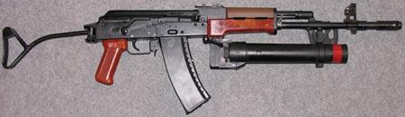 Кbk wz 88 Tantal с установленным подствольным гранатометом Pallad