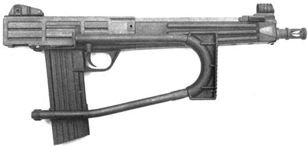 карабин Interdynamics MKS с укороченным стволом и сложенным прикладом