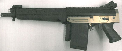 компактная модель SIG SAPR 751 SB с укороченным стволом и сложенным прикладом