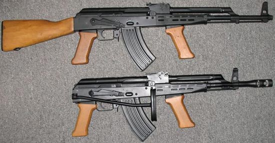 AKM-63 (сверху) и AMD-65 (снизу) гражданский вариант