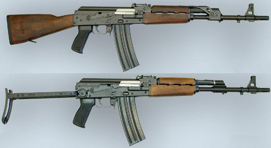 Zastava M90 (сверху) M90 A (снизу)