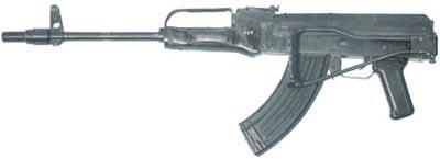7,62-мм автомат Барышева АБ-7,62 со сложенным прикладом