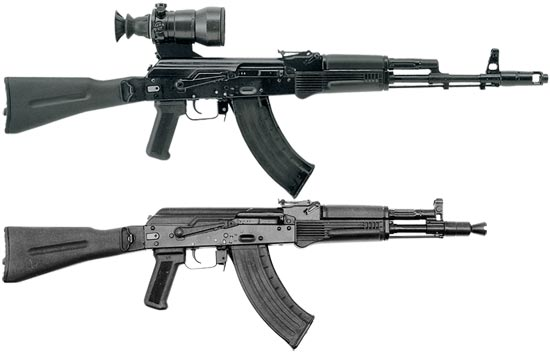 АК-103 (сверху) АК-104 (снизу)