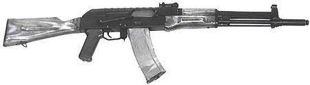 Автомат АЛ-4 разработан в конце 1960-х годов, за несколько лет до АК-74. Ствол и затвор этого образца был заимствован при разработке АК-74.