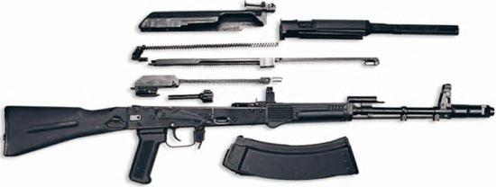 AK-107 неполная разборка