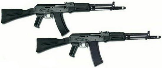 АК-107 (сверху) АК-108 (снизу)