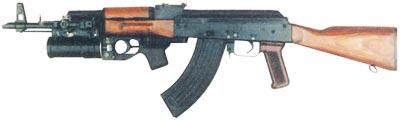 автомат Калашникова модернизированный АКМ с установленным подствольным 40-мм гранатометом ГП-25