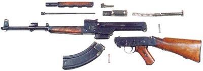 опытный автомат Калашникова АК-46 неполная разборка