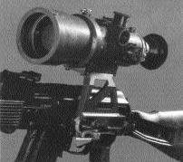 крепление прицела ночного видения НСПУ-3 на АК-74М