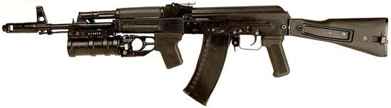 АК-74М с установленным подствольным гранатометом ГП-30
