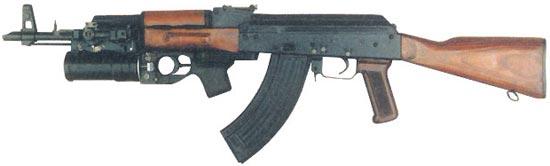 серийный автомат Калашникова модернизированный АКМ с подствольным 40-мм гранатометом ГП-25