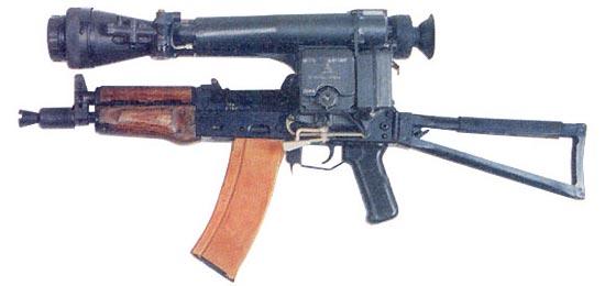 АКС-74УН с установленным ночным прицелом НСПУ
