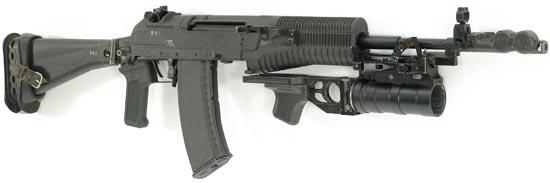 АН-94 с установленным 40-мм подствольным гранатометом ГП-34