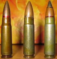 патроны 7.62х39, СП-5, СП-6 (слева-направо)