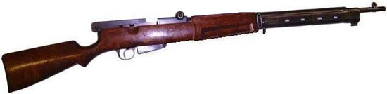 самозарядная винтовка Федорова образца 1912 года под патрон 7.62х54R