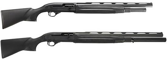 Beretta 1301 Comp с длиной ствола 530 мм (сверху) и 610 мм (снизу), оснащенные удлинителями магазина
