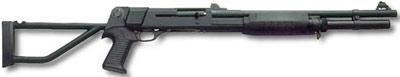 Benelli M3T Tactical - вариант со складным прикладом и диоптрическим прицелом типа ghost ring