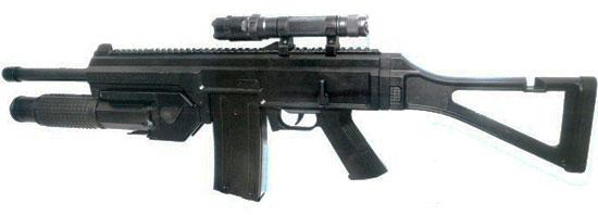 LW-3 с коробчатым магазином и 38-мм подствольным гранатометом для «несмертельных» боеприпасов