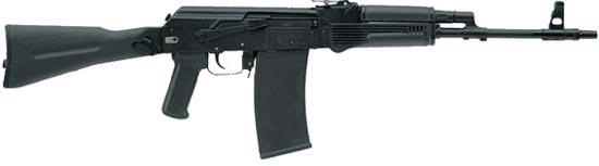 Сайга 410К-01 со складным пластиковым прикладом, цевьем и прицелом в стиле АК-74М, и с 10-зарядным магазином