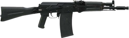 Сайга 410К-03 со складным пластиковым прикладом, цевьем и прицелом в стиле АКС-74, 10-зарядным магазином