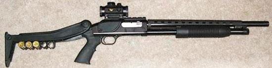 Mossberg Maverick M 88 со складывающимся прикладом