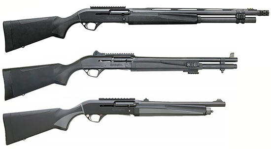Сверху - вниз: Remington Versa Max Tactical, Remington R12, Remington R12-E (Entry)
