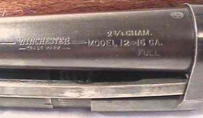 клеймо Winchester M1912