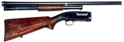 Winchester M1912 с отсоединенным стволом