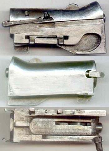 Затвор вид слева, справа, снизу (сверху-вниз)